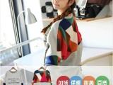 2014秋装新款 韩版大码体恤拼接长袖 女纯棉女士打底衫卫衣 批