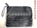 2012韩版 黑色柳丁手拿包 电脑公文包