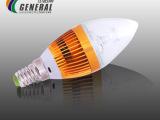 LED球泡灯泡 杰诺尔厂家直销3W螺口E14光源蜡烛灯泡照明超亮