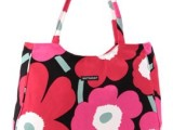 2014marimekko 帆布包 OL通勤手提包 撞色时尚 单
