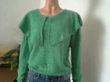 2014年春装新款毛衫针织衫女长袖套头宽松兔毛衫韩版女装披肩领
