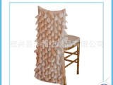 酒店布草椅子套 激光圆点锦涤纺椅套 玫瑰花椅帽 宾馆餐厅
