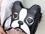新款包包韩版女包时尚小狗头包可爱单肩包潮流立体卡通斜跨包批发
