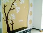 各类家装背景墙墙体彩绘 玄关彩绘 餐厅墙绘