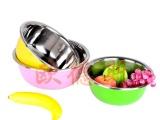 不锈钢反边调料缸/炫彩打蛋盆/洗菜盆套装