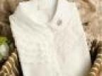 日系钩花镂空多层可爱长袖白衬衫 森女2014秋冬女装新款上新