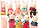 正版metoo咪兔 提拉米兔 Q版兔子毛绒玩具公仔生日礼物 盒装