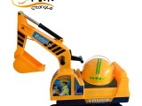 0268热销厂家直供学步助步工程实色驾驶仓挖掘机运动玩具童车批发
