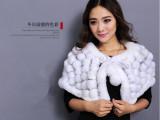 龙辉皮毛厂**生产最新款兔毛围日韩外贸披肩冬季女款