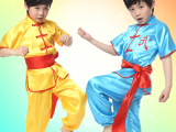 儿童演出服装男童舞蹈服装练功服武术表演服套装少儿太极拳服