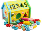 数字拆装屋 形状认知木制玩具 早教益智组合玩具 3-6岁儿童玩具