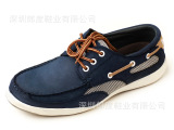 欧美外贸原单鞋复古休闲牛皮时尚款徒步男鞋 两色可选 全网新款