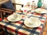 地中海桌布布艺英伦格子 欧式餐桌布爱丁堡系列