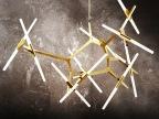 铭星灯饰简约树杈餐厅客厅别墅人字形LED吊灯餐厅树枝灯