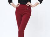 休闲裤女式 2014秋冬款女士外穿大码女裤高腰加绒加厚长裤
