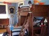 实木梯柜床上下铺床儿童松木床高低子母床带