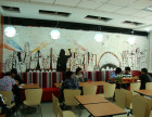 三门峡饭店墙绘母婴店彩绘儿童游泳馆壁画