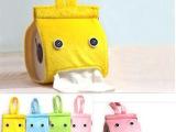 超萌小精灵布艺纸巾抽 家居纸巾套 创意卡通毛绒纸巾抽厕纸收纳盒