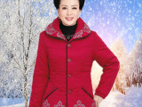 2014中老年外套 新款女装冬款棉衣大码中年妈妈装时尚优雅棉衣