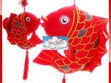 迎新年礼物 红鱼 年年有鱼毛绒玩具公仔 鲤鱼跳龙门毛绒公仔