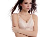 无钢圈内衣文胸全罩杯大胸显小调整型品牌文胸薄款 休闲舒适透气