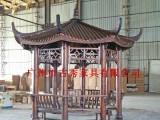 广东广州仿古碳化 防腐木户外圆柱八角凉亭厂家优惠价