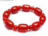 红玛瑙手链 天然玛瑙手串 **玛瑙桶珠 大气吉祥寓意 超低价批发