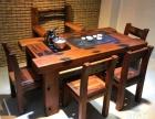 河源市老船木茶桌椅子仿古茶台实木沙发茶几餐桌办公桌家具博古架
