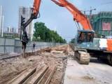 松江区拉森钢板桩租赁打拔.液压震动打桩锤出租深基坑钢板桩支护