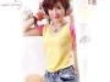 2013年新款夏装女装小衫短袖t恤撞色拼接圆领修身纯棉外套女