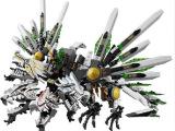正品博乐9789幻影忍者系列四头龙龙船史诗大决战乐高拼装积木玩具