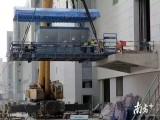 江夏郑店锅炉吊装就位,机组搬运,厂房设备移位