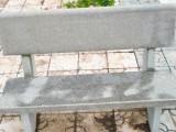 公园石头长椅 大理石公园长椅防腐木石材长凳子广场休闲椅