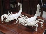 猛犸象牙蝎子摆件雕刻猛犸牙蝎子