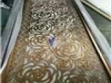 定制不锈钢屏风隔断玫瑰金玄关现代客厅酒店会所金属镂空雕花