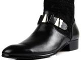 2013新款男靴真皮单靴 英伦时尚铆钉高帮皮鞋批发 马丁靴 工作