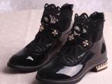 2015春夏女童靴子批发时尚公主风热销新款拉链中童大童品牌童鞋