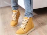 韩版厚底鞋 系带马丁靴 短靴 平底鞋 新款平跟女式鞋543A