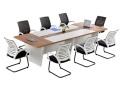 特价钢木会议桌长桌简约现代办公桌职员培训洽谈电脑大班台长条形