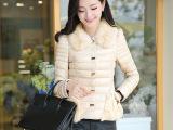 冬季女装短装棉衣棉袄外套韩版修身白搭高仿毛领短款羽绒棉衣