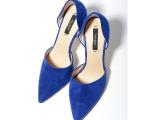 2014春新款女鞋 欧美外贸品牌尖头镂空高跟单鞋 厂家直销一件代