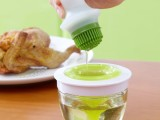 硅胶油刷油瓶 创意厨房工具耐高温套装 厨房烧烤刷烘培油刷子446g