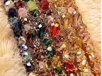 韩国发饰 多彩超闪不规则水晶缠绕宽边发箍饰发带 饰品批发