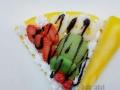 仿真食物西餐食品模型 草莓香蕉奶油可丽饼模型 餐厅