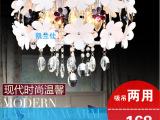 时尚浪漫现代简约LED水晶灯饰客厅灯卧室灯温馨田园LED吸顶吊灯具