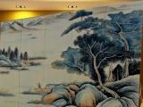 古典山水画屏风 客厅屏风 隔断玄关办公酒