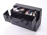 正品黑色手提美容工具收纳箱化妆箱多层大号化装箱化装品收纳工具