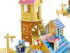 diy木质拼图立体小屋模型 3-5岁小男孩益智儿童玩具厂家直销F111