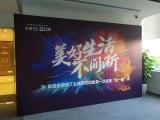 上海嘉定区活动背景板制作出租 签到舞台背景板