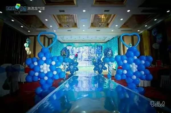 天津百日宴满月酒周岁生日宴会气球布置